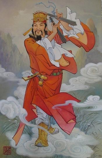 Цао Гоцзю, один из китайских «Восьми бессмертных (Ба сянь)». Фото: hi.baidu.com