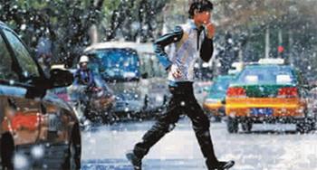 В Пекине от резкого потепления пошел «снег». Фото: epochtimes.com