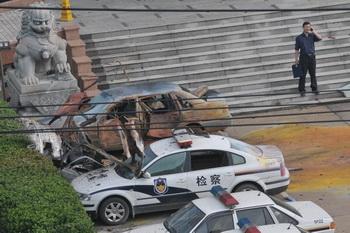 Серия взрывов в Китае в городе Фучжоу. Фото: epochtimes.com