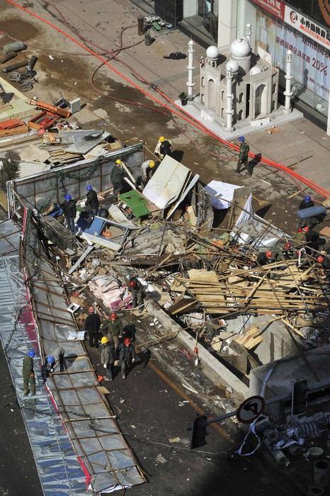 В подземном торговом центре города Шэньян в Китае произошёл взрыв газа, от которого пострадало около 20 человек. Фото: ChinaFotoPress/Getty Images