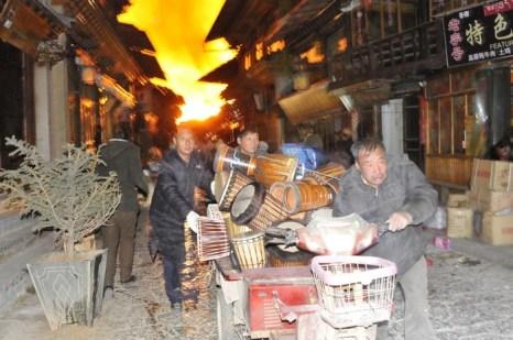 Пожар в древнем тибетском городе Дукэцзун. Январь 2014 года. Фото с epochtimes.com