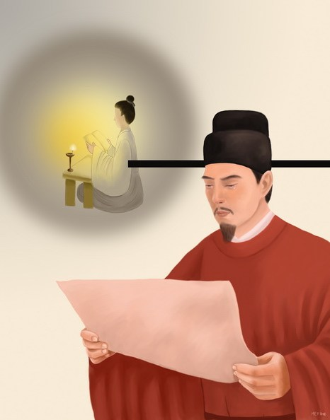 Выдающийся канцлер, но без дома на земле, которой управлял. Иллюстрация: SM Yang/Великая Эпоха (The Epoch Times)