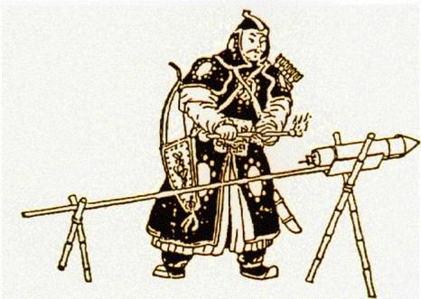 В отличие от современных торпед, китайская торпеда прыгала рикошетом от воды. Она как ракета выпускалась с судна при помощи фитиля и пороха и прыгала по воде к своей цели. Иллюстрация: НАСА/Wikipedia