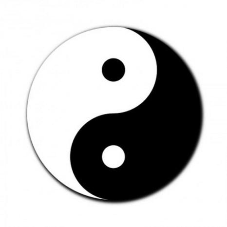 Символ тайцзи. Фото: Shutterstock