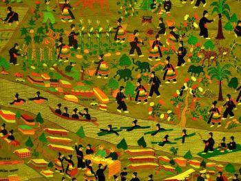 Вышивка Hmong: женщины Hmong передают историю своего народа в уникальной и богатой вышивке и этим сохраняют свое культурное наследие, несмотря на дискриминацию, с которой сегодня все еще сталкивается народ Hmong. Фото Pornchai Kittiwongsakul/AFP/Getty Images