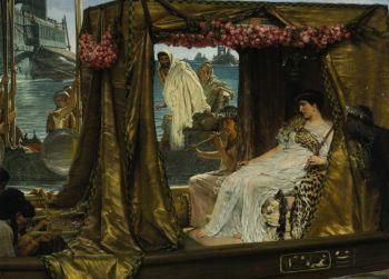 Викторианский шедевр: «Встреча Антония и Клеопатры»,  сэр Лоуренс Альма-Тадема. (Источник Sothebys)