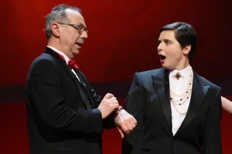 Дитер Косслик и Изабелла Росселини на открытии Кинофестиваля Berlinale 2011. Фото: Sean Gallup/Getty Images
