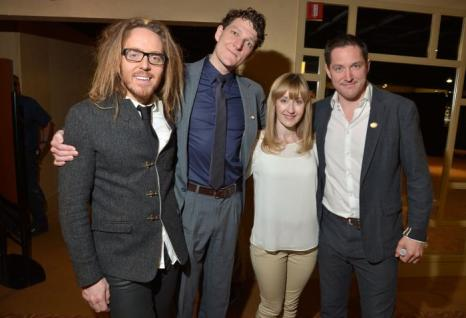 Тим Минчин, Габриэль Эберта, Лорен Уорд и Берти Карвел на пресс-приёме в Нью-Йорке. Фото: Mike Coppola/Getty Images for Tony Awards Productions