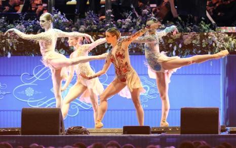 Английский национальный балет выступил на концерте в первый день Коронационного фестиваля в саду Букингемского дворца (Лондон) 11 июля 2013 года. Фото: Stuart C. Wilson/Getty Images