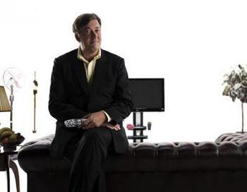 Стивен Фрай (Stephen Fry) будет играть брата Шерлока Холмса Майкрофта Холмса. Фото: Leo Williams/Getty Images