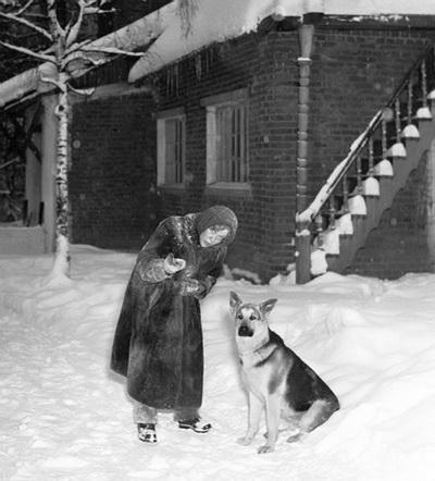 Любовь Орлова на даче. Фото с сайта kino-teatr.ru