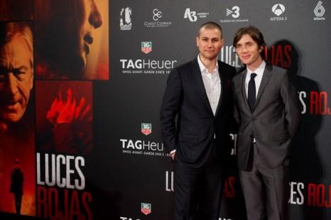 «Красные огни». Режиссёр Родриго Кортес и актёр Киллиам Мёрфи на премьере фильма «Красные огни» в Мадриде, Испания. Фото: Carlos Alvarez/Getty Images