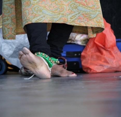 Движения ног очень важны в классическом индийском танце. Фото: Pam McLennan/ Epoch Times