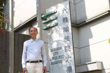 Последователь Фалуньгун Цэнь Цаньмин доволен оправдательным приговором, вынесенным в канун китайского Нового года. Фото Zhen Li/Epoch Times