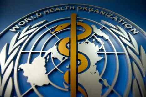 Логотип Всемирной организации здравоохранения (World Health Organisation), открывшей свой офис в Пекине 19 апреля 2013 года. Согласно новому «Всемирному отчёту по раку», в 2012 году в Китае было зарегистрировано более 3 миллионов новых случаев заболевания раком. Фото: Ed Jones/AFP/Getty Images