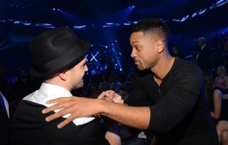 Уилл Смит и Джастин Тимберлейк посетили церемонию вручения премии MTV (Video Music Awards) за лучшие музыкальные видео-клипы в Нью-Йорке (США) 25 августа 2013 года. Фото: Larry Busacca/Getty Images for MTV