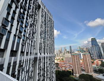Небоскреб Pinnacle@Duxton (163 метра), возведенный в Сингапуре. Фото: ROSLAN RAHMAN/AFP/Getty Images
