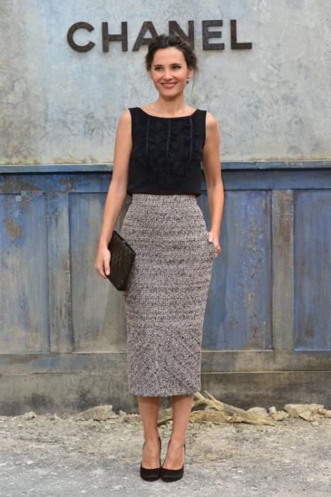 Вирджини Ледуайен на показе новой коллекции Chanel в Париже 2 июля 2013 года. Фото: Pascal Le Segretain/Getty Images