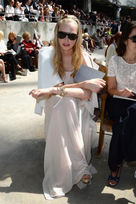 Таня Дзягилева на показе новой коллекции Chanel в Париже 2 июля 2013 года. Фото: Pascal Le Segretain/Getty Images