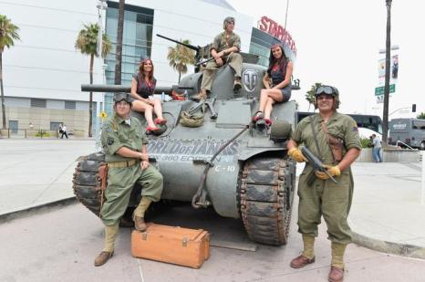 Microsoft X-Box World of Tanks на выставке E3 11 июля 2013 года. Фото: Alberto E. Rodriguez/Getty Images