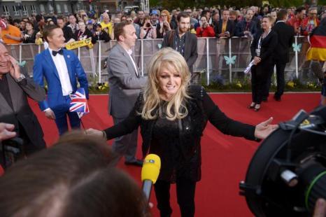 Бонни Тайлер представляет Великобританию на Евровидение 2013 в Мёльме, Швеция. Фото: Janerik Henriksson / SCANPIX/AFP/Getty Images