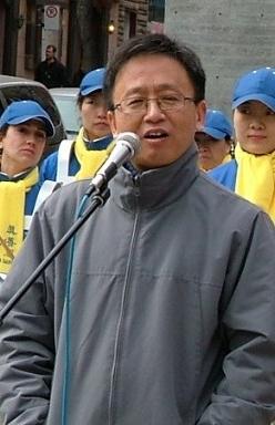 Господин У: «КПК – огромная банда». Фото: Cheng Xin/The Epoch Times