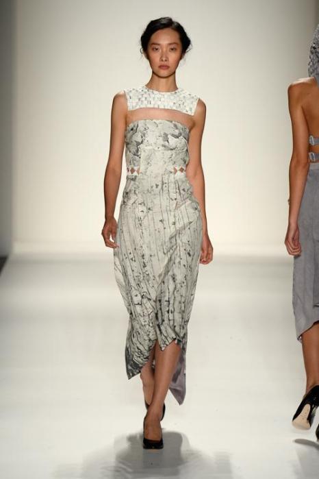 Американский модный бренд supima, занимающийся продвижением одежды из элитных хлопчатобумажных тканей, представил новую коллекцию Весна 2014 на осенней Неделе моды в Нью-Йорке 5 сентября 2013 года. Фото: Frazer Harrison/Getty Images for Mercedes-Benz Fashion Week