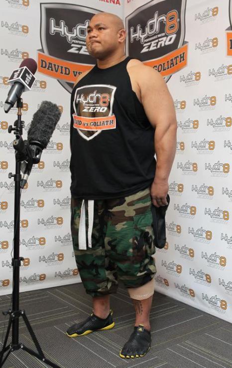 В Окленде 13 августа 2013 года состоялась конференция, на которой объявили о травме новозеландского супертяжеловеса Дэвида Туа и переносе боя с Александром Устиновым, запланированного ранее на 31 августа. фото: Fiona Goodall/Getty Images