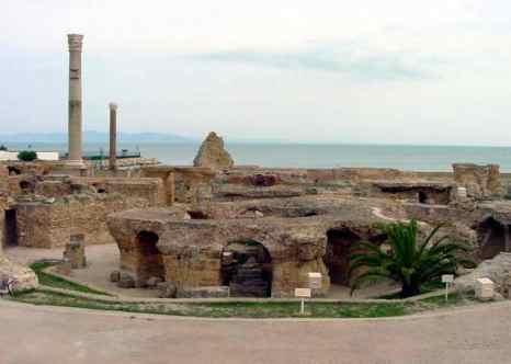 Руины древнеримской термы Антонина в Карфагене. Фото: Patrick Verdier/commons.wikimedia.org