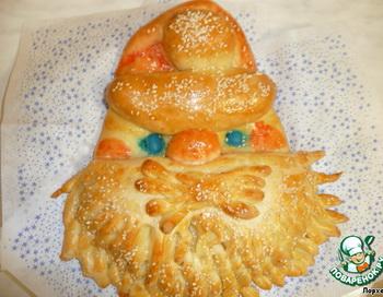 Праздничный Хлеб «Дед Мороз». Фото: povarenok.ru
