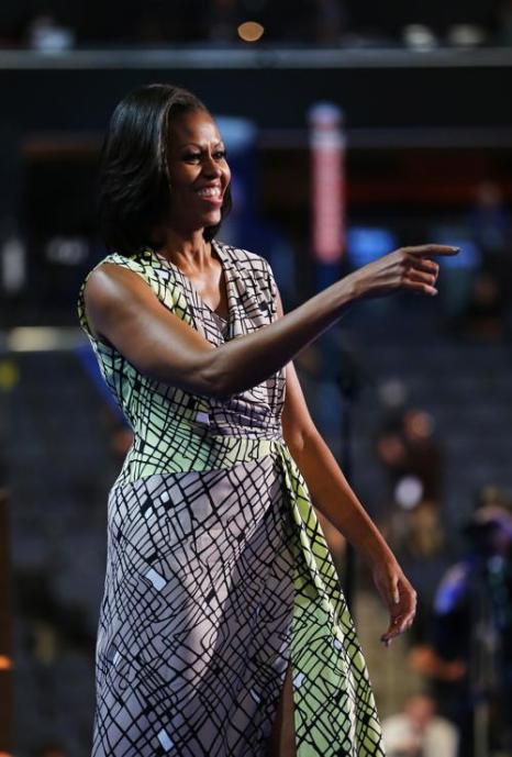 Первая леди Мишель Обама выступает на Warner Cable Arena 3 сентября 2012 года в Шарлотте, Северная Каролина. Фото: Joe Raedle/Getty Images