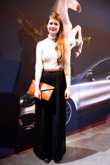 Zsuzsanna на Mercedes-Benz Fashion в Берлине, 18 января 2013 года. Фото: Anke Grelik/Getty Images