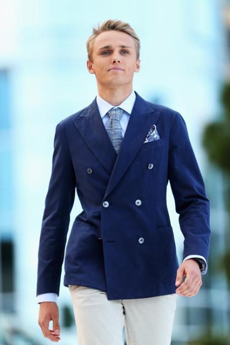 Макс Чилтон, британский гонщик «Маруси» Формулы 1, участвует в модном показе Amber Lounge в Монте-Карло. Фото: Mark Thompson/Getty Images