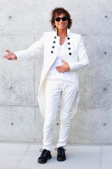 Известная итальянская певица Джанна Наннини на показе Giorgio Armani 2014 в Милане. Фото: Vittorio Zunino Celotto/Getty Images