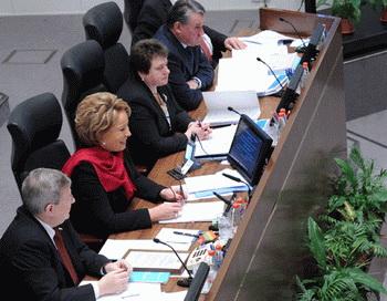 Заседание Совета Федерации РФ. Фото РИА Новости