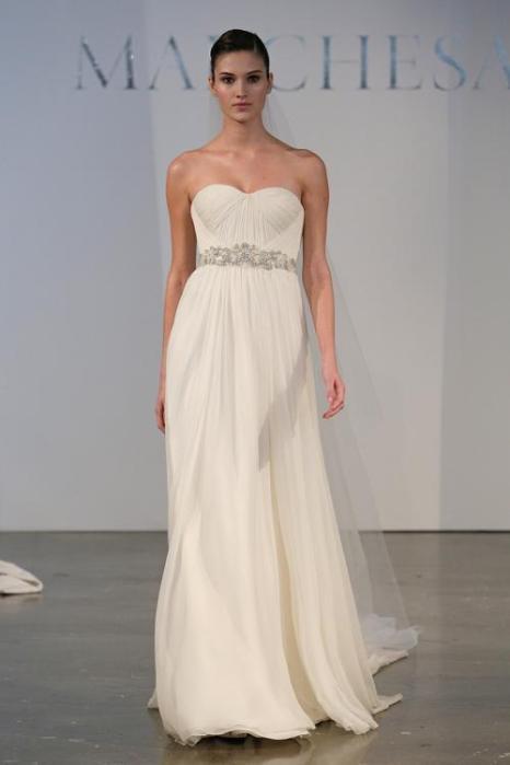 Свадебные платья «Маркиза» 2014 представили в Нью-Йорке. Фото: Randy Brooke/Getty Images
