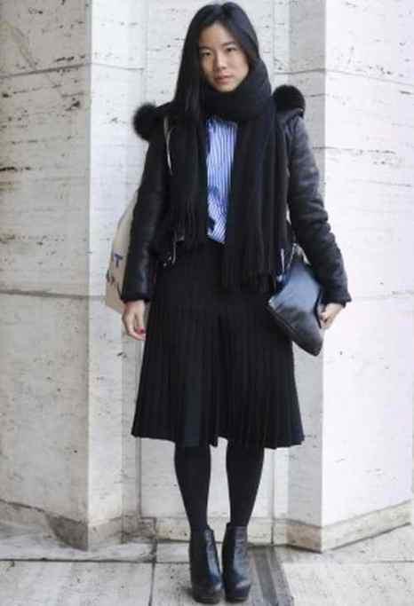 Шарлотта Мао во время нью-йоркской недели моды 6 февраля 2014 года. Фото: Самира Буау/Великая Эпоха (The Epoch Times)