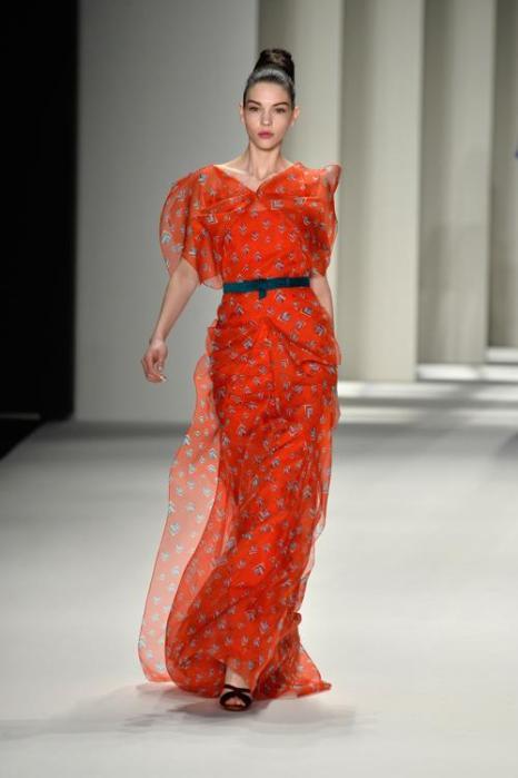 Дизайнер Каролина Эррера провела 10 февраля показ коллекции изделий Carolina Herrera 2014. Фото: Frazer Harrison/Getty Images for Mercedes-Benz Fashion Week