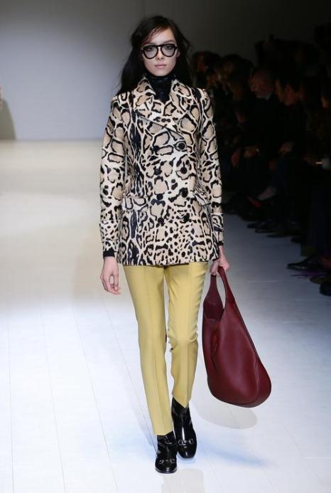Фрида Джаннини провела показ Gucci осень-зима 2014 на Неделе моды в Милане. Фото: Vittorio Zunino Celotto/Getty Images