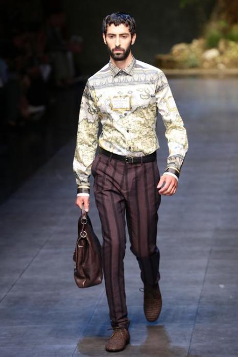 Dolce&Gabbana представили новую мужскую коллекцию лета 2014 года в Милане. Фото: Vittorio Zunino Celotto/Getty Images