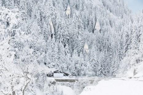 Модели домов, спроектированных датским архитектором Конрадом Вёйсиком. Дома напоминают деревья и являются экологически чистыми. Фото предоставлено Конрадом Вёйсиком.