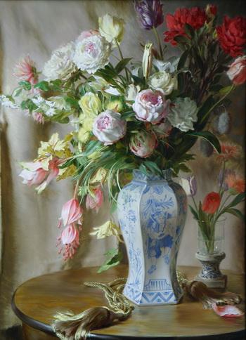 В возрасте 10 лет Ханс Лааглэнд начал рисовать. В возрасте 11 лет он написал свою первую картину маслом, а через год состоялась первая выставка его произведений. «Цветочный Morseburg», 2007, холст, масло на панели. Фото предоставлено Хансом Лааглэндом