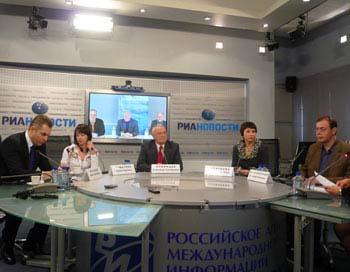 Участники пресс-конференции в Москве. Фото: Елена Захарова. ВЭ