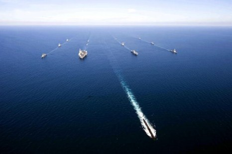 ВМС и ВВС США и Южной Кореи проводят совместные учения в Японском море. Фото:Class Adam K. Thomas/U.S. Navy via Getty Images