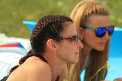 Татьяна Полянская: «На наземных тренировках перед женским рекордом». Фото предоставлено Татьяной Полянской