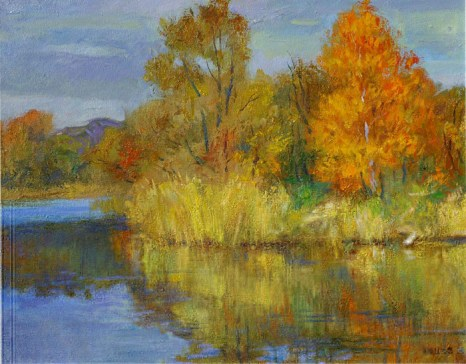 Осенний пейзаж. Холст, масло.