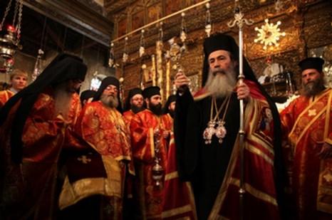 Рождество Христово. Рождественская служба в Иерусалиме.  Фото: GALI TIBBON/AFP/Getty Images