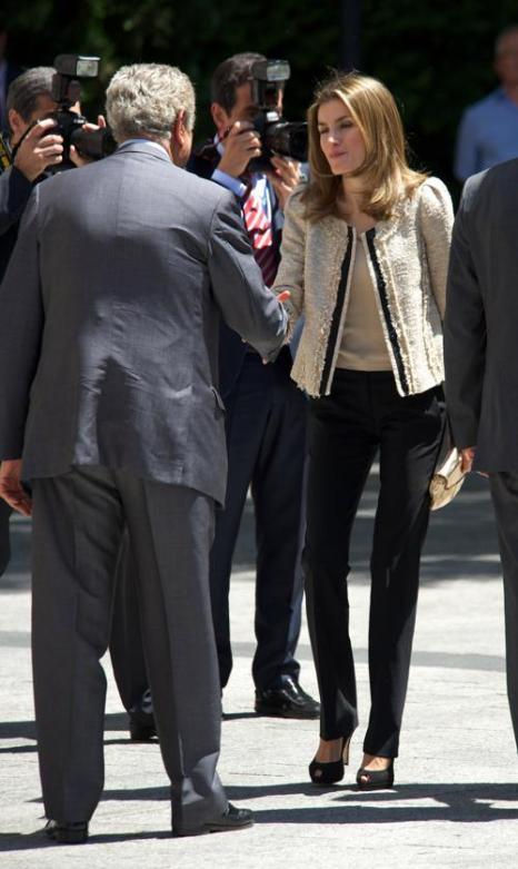 Принц и принцесса Испании Фелипе и Летиция  приняли участие в награждении журналистов. Фоторепортаж. Фото: Carlos Alvarez/Getty Images