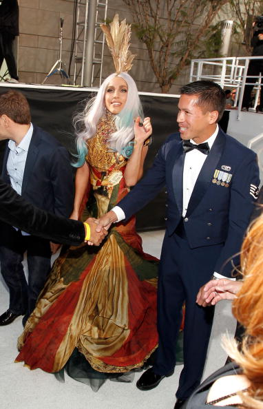 На MTV VMA-2010 Леди Гага (Lady Gaga) получила восемь наград. Фоторепортаж. Фото:  Kevin Winter/Frederick M. Brown/MARK RALSTON/AFP/Getty Images