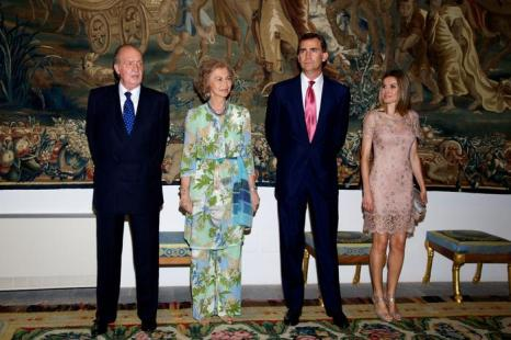 Королевская семья Испании на официальном обеде во дворце Almudaina в Пальма де Майорке. Фоторепортаж. Фото: Carlos Alvarez/Getty Images